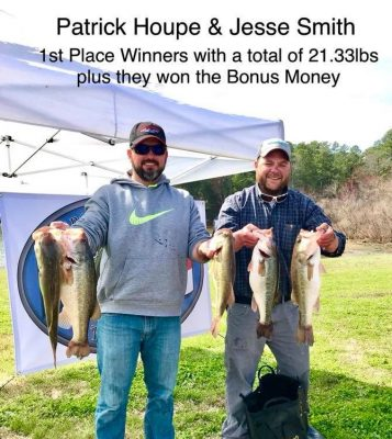 Tournament Results Hickory Mar 17, 2018 – 21.33 lbs!