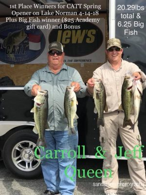 Tournament Results Norman April 14, 2018      20.29 lbs wins!