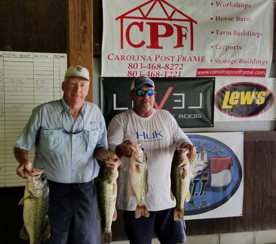 Tournament Results Santee Cooper July 7, 2018  26.61 lbs Wins!