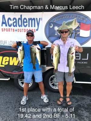 Tournament Results Hickory Final Aug 4, 2018 Chapman & Leech Hit the Jackpot!
