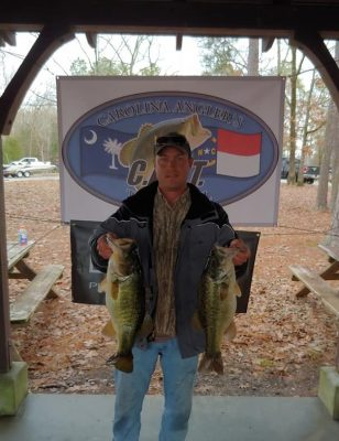 Tournament Results Lake Murray Jan 19, 2019 Amick & Huffstetler Weigh in 23.52 lbs!   www.levelperformancerods.com