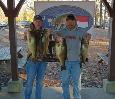 Tournament Results Lake Murray Jan 26, 2019 Wright & Slice Make the Wright Moves & Slice Up the Field! 25.37 lbs!
