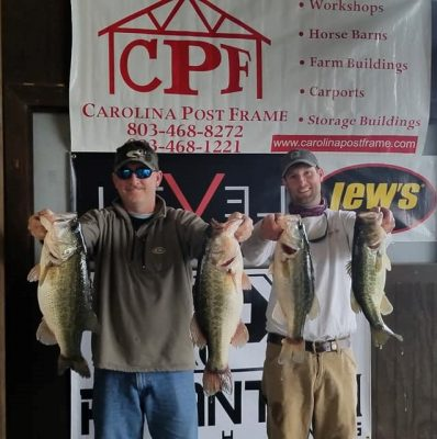 Tournament Results Santee Cooper, SC Feb 16, 2019 Clarke & Jones Break Down the 25 lb Barrier!