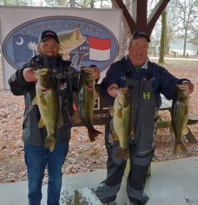 Tournament Results Lake Murray, SC Feb 23, 2019 The Rutherfords Weigh in 26.07 lbs!