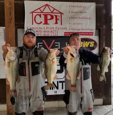 Tournament Results Santee Cooper Feb 23, 2019 The Clements Smack Em & Stack Em 28.95 lbs!   BF 9.14 lbs!