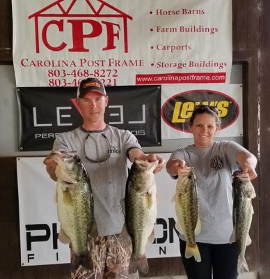 Tournament Results Santee Cooper March 30, 2019 Hunter & Ashley Hoffmeyer Team Up For the Win! 23.66 lbs!