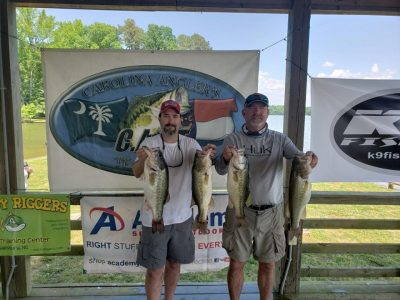 Tournament Results Yadkin High Rock Lake, NC May 18, 2019  Tony Brewer & Scott Faulkner Weigh In 23.63 lbs! Derek Livingston & Andrew Wallace Win the 2019 Yadkin Spring Points & Will Fish the Final Free!