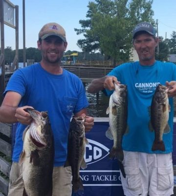 Tournament Results Waccamaw River, SC May 18, 2019 Britt Brown & Danny Martin Win With 17.48 lbs!  7.09 Lb BF $1,553.00!