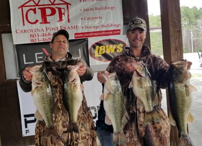 Santee Cooper EXTRA! The Average 1st Place 5 Bass Limit @ 2019 CATT Santee Spring Events – 27.51 lbs ! Check Out the 2019 Santee Cooper Winning Bags!