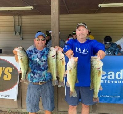 Tournament Results Lake Wateree, SC Summer Final July 20, 2019 Chad Gainey & Mack Kitchens Take Home $2,560.00! 19.22 lbs! David F. Canupp & David. L Canupp Bring In the BF at 5.03 lbs! Total Payback at Wateree as of July 20! $53,134.00!