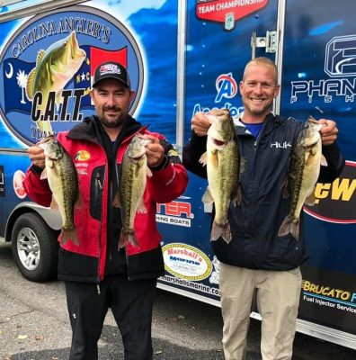 Tournament Results Lake Norman, NC Oct 5, 2019 Craig Chambers & Derek Cummings Took 1st Place With 5 Bass Weighing 13.19 lbs! $1,239.00!