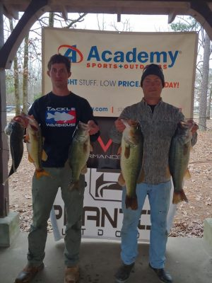 Tournament Results Lake Murray, SC Jan 18, 2020