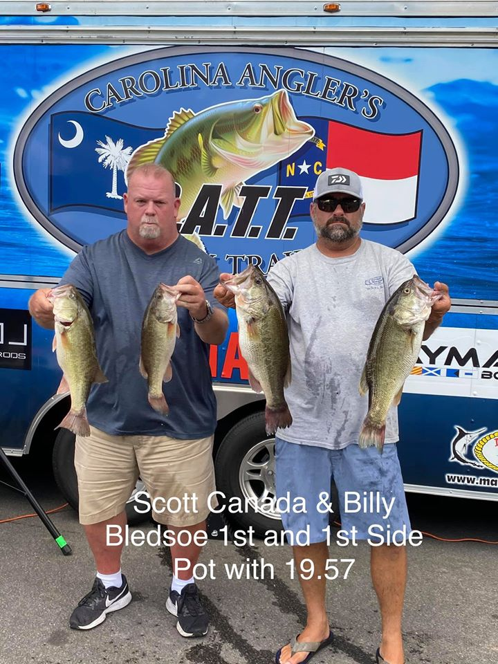 Tournament Results Old North Jordan Lake, NC August 2, 2020